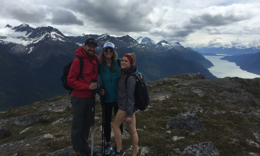 AB Mountain, Skagway, AK. With our tour director friend Shannon.